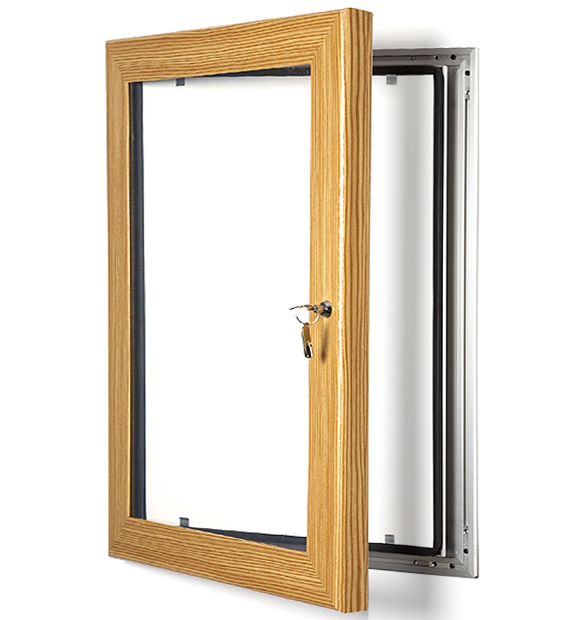 Yellow Notice On Front Door: Colour Security Key Lockable Magnetic Frame