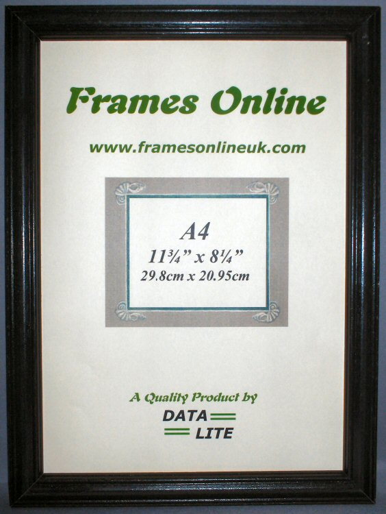 c range black wood photo frame