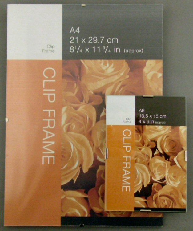 PLASTIC CLIP FRAME - Wholesale Trade Price Borderless Picture Frames
