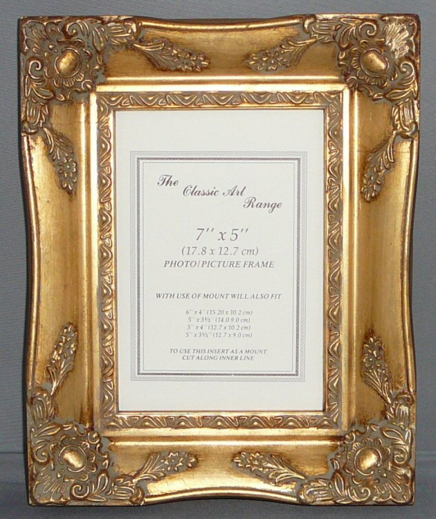 gold swept picture frame