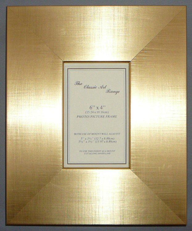 FRAMES BULK SUPPLY K Range Gold Silver Wide Flat Wedge Picture Frame