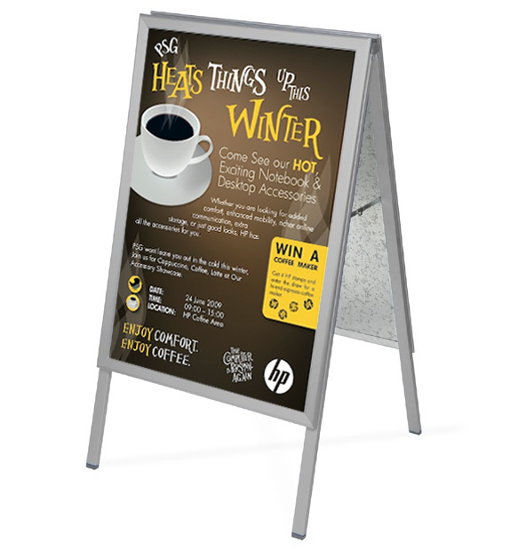 DISPLAY Products - Silver A Board Style Pavement Sign