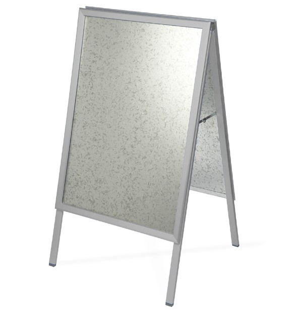 Silver Pavement Sign - A Board style for outdoor retails advertising