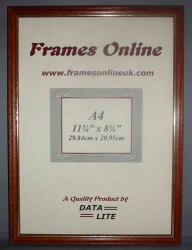 'A' Range Picture Frame - Teak Wood with Gold Trim