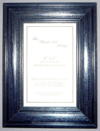 E Range - Blue Stained Wood Picture Frame