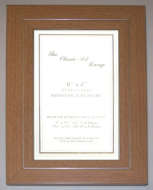 E Range - Flat Beech With Silver Line Picture Frame