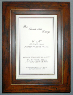 E Range - Flat Walnut With Gold Line Picture Frame