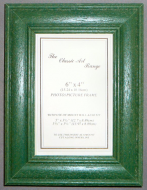 E Range - Green Stained Wood Picture Frame