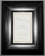 H Range - Dome Black Picture Frame