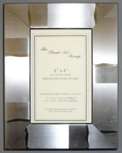 H Range - Modern Check Silver Picture Frame