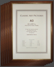 Pack of  Six A3 size Teak Wood Picture Frames