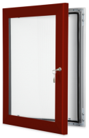 Red Brown Key Lock Pinboard Frame